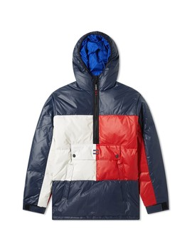 Tommy Jeans Popover Flag Puffer Jacket by Tommy Jeans
