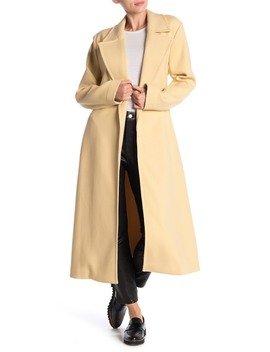 Alyssandra Long Line Knit Trench Coat by Equipment