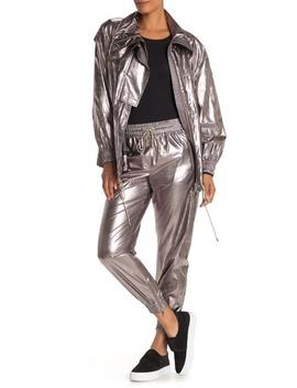 Metallic Foil Drawstring Pants by Jason Wu