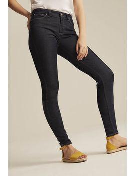 Silver Mazy Skinny Jean In Dark Denim by Long Tall Sally