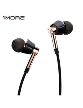 Original 1 More Triple Driver In Ear Earphone With Microphone For Xiaomi Mi Redmi Samsung Mp3 Earphones Earbuds Earpiece E1001 by Ali Express.Com