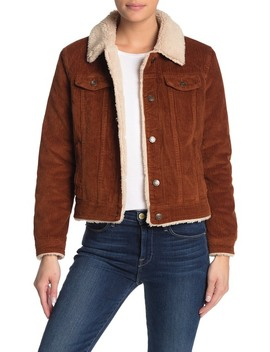 Corduroy Shearling Jacket by Vigoss