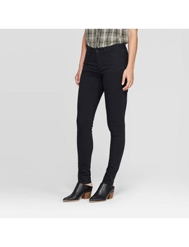 Women's Mid Rise Skinny Jeans   Universal Thread™ Black by Universal Thread