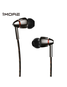 1 More Quad Driver E1010 In Ear Earphone Earbuds With Apple I Os And Android Compatible Microphone And Remote (Titanium) by Ali Express.Com