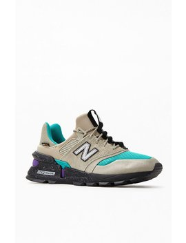 New Balance Grey & Turquoise 997 Sport Shoes by Pacsun