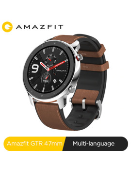 Global Version Amazfit Gtr 47mm Smart Watch 5 Atm Waterproof Smartwatch 24 Days Battery Music Control Leather Silicon Strap by Ali Express.Com