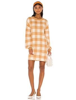 Floyd Sweater Dress In Tan by Lpa