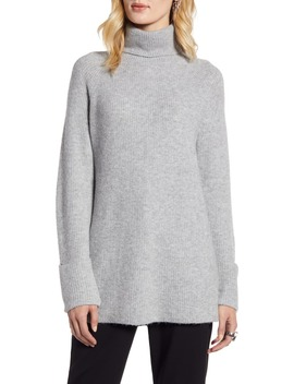 Ribbed Turtleneck Sweater by Halogen