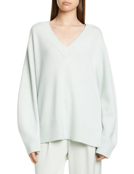 V Neck Cashmere Tunic Sweater by Vince