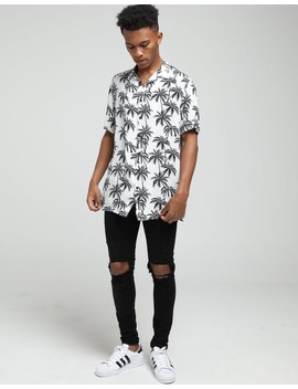 New Slaves Palm Tree Shirt Black/White by New Slaves