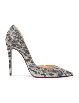 Iriza 100 Metallic Jacquard Pumps by Christian Louboutin