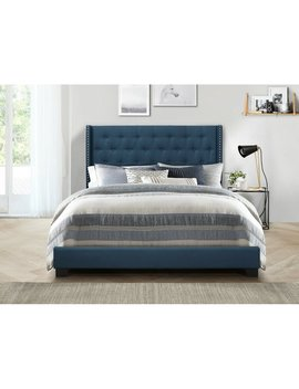 Blue Gloucester Upholstered Standard Bed by Greyleigh