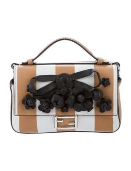 Leather Embellished Double Micro Baguette by Fendi