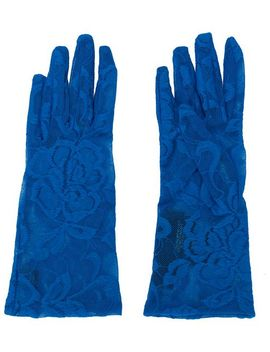 Floral Lace Gloves by Gucci