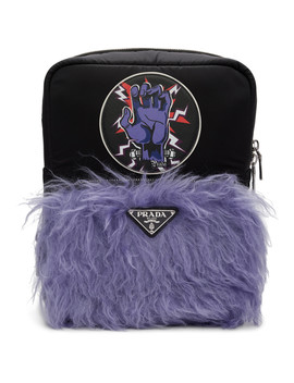 Black Universal Studios Edition Hand Logo Backpack by Prada