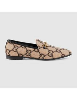 Women's Gucci Jordaan Gg Wool Loafer by Gucci