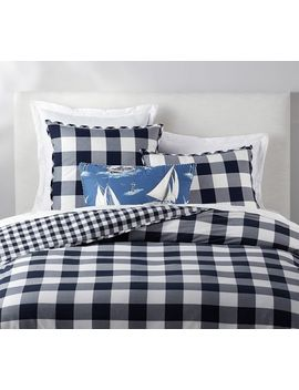 Gingham Check Reversible Percale Duvet Cover & Shams by Pottery Barn