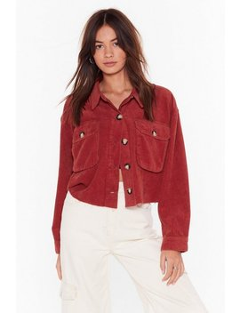 Cord Utility Cropped Jacket by Nasty Gal