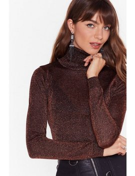 The Stars Glitter Turtleneck Fitted Sweater by Nasty Gal