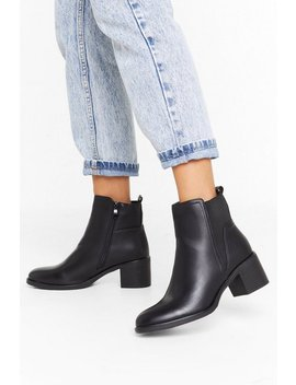 Boot Your Shot Faux Leather Chelsea Boots by Nasty Gal