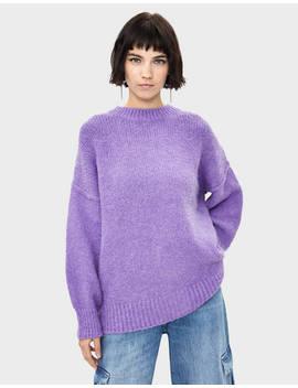 Round Neck Oversize Sweater by Bershka