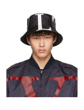 Black Valentino Garavani 'vltn' Bucket Hat by Valentino