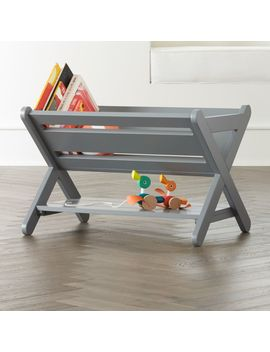 Good Read Grey Book Caddy by Crate&Barrel