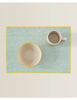 Plastic Placemat With A Mini Leaf Print View All   New In by Zara Home