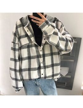 Real Boy   Hooded Plaid Jacket by Real Boy