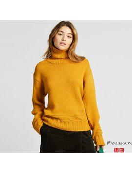 Women Low Gauge Turtleneck Sweater (Jw Anderson) by Uniqlo