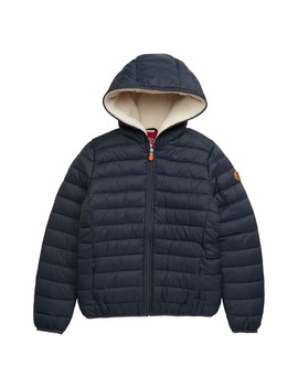 Quilted Water Resistant Hooded Jacket by Save The Duck