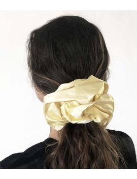 Oversized 100% Silk Lemon Scrunchie   80s 90s Minimalist   Giant Scrunchie   Large Premium Hair Accessories   Pastel Silk Hair Tie by Etsy