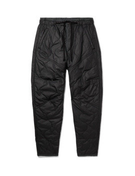 Black Gao Tapered Quilted Satin Shell Trousers by Isabel Marant