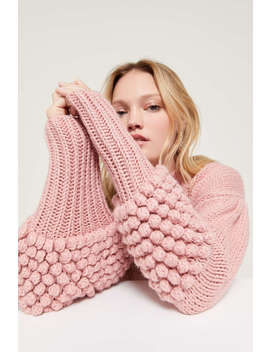 C/Meo Collective Hold Tight Pom Mock Neck Sweater by C/Meo Collective