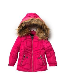 Faux Fur Puffer Jacket (Little Girls) by Dkny