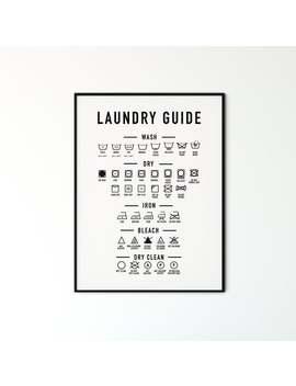 Laundry Room Decor, Printable Art, Laundry Wall Decor, Laundry Room Signs, Laundry Symbols, Laundry Room Art, Laundry Art by Etsy