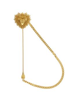 Gold Heart Lapel Pin by Dolce & Gabbana