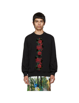 Black Roses Sweatshirt by Dolce & Gabbana