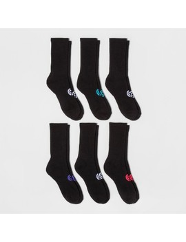 Women's 6pk Crew Athletic Socks   C9 Champion® Black 5 9 by C9 Champion