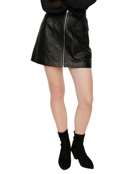 Jelise Leather Mini Skirt by Maje