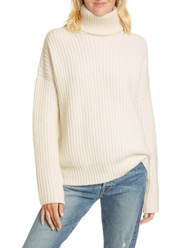 Ribbed Turtleneck Cashmere Sweater by La Ligne