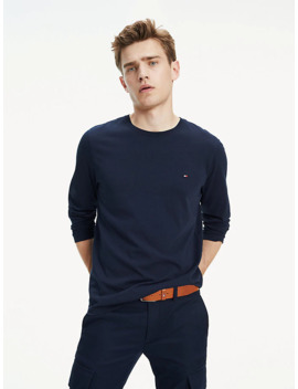 Essential Organic Cotton Long Sleeve T Shirt by Tommy Hilfiger