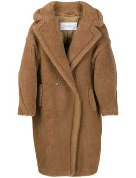 Textured Oversized Double Breasted Coat by Max Mara