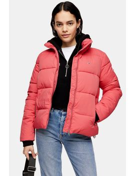 High Neck Puffer Jacket By Tommy Jeans by Topshop