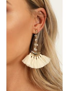 This Groove Earrings In Gold And Cream by Showpo Fashion