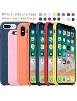 De Lujo Original Oficial De Silicona Logotipo Caso Para I Phone 5 Se 6s 6 7 8 Plus Líquido Caso Para Apple I Phone 11 X Xs X Max Xr 11pro Max Caso by Ali Express.Com