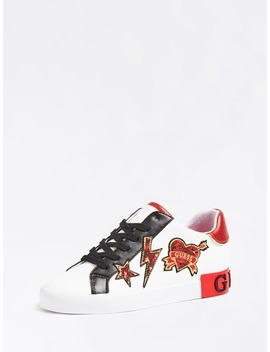 Path Sneaker Contrast And Patch by Guess