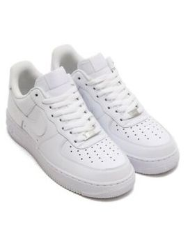 Nike Air Force 1 One 07' All White Mens Low Leather Shoes Af1 315122 111 Nwt Ds by Nike