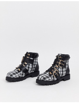 Asos Design   Avenue   Bottes De Randonnée En Tweed by Asos Design