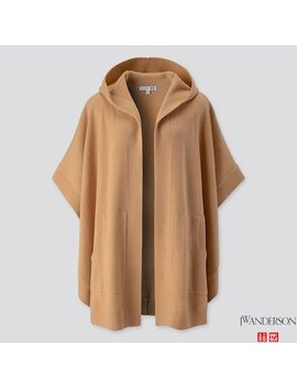 Women Lambswool Blend Poncho (Jw Anderson) by Uniqlo